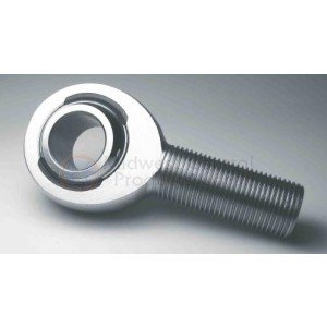 "RH Thread 5/8"" Spherical Rod End, Chrome Moly, Slotted Nylon Race"