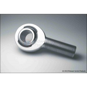 "LH Thread 5/8"" Spherical Rod End, Chrome Moly, Slotted Nylon Race"