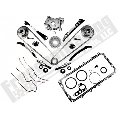 5 4L 3V 2004-2010 Ford OEM Cam Phaser, Timing Chain, Upgraded Oil Pump, and  VCT Solenoid Replacement Kit