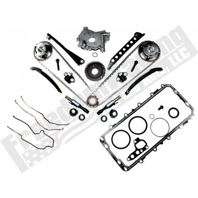 5 4L 3V 2004-2010 Aftermarket Cam Phaser, Timing Chain, Upgraded Oil Pump,  and VCT Solenoid Replacement Kit Alt