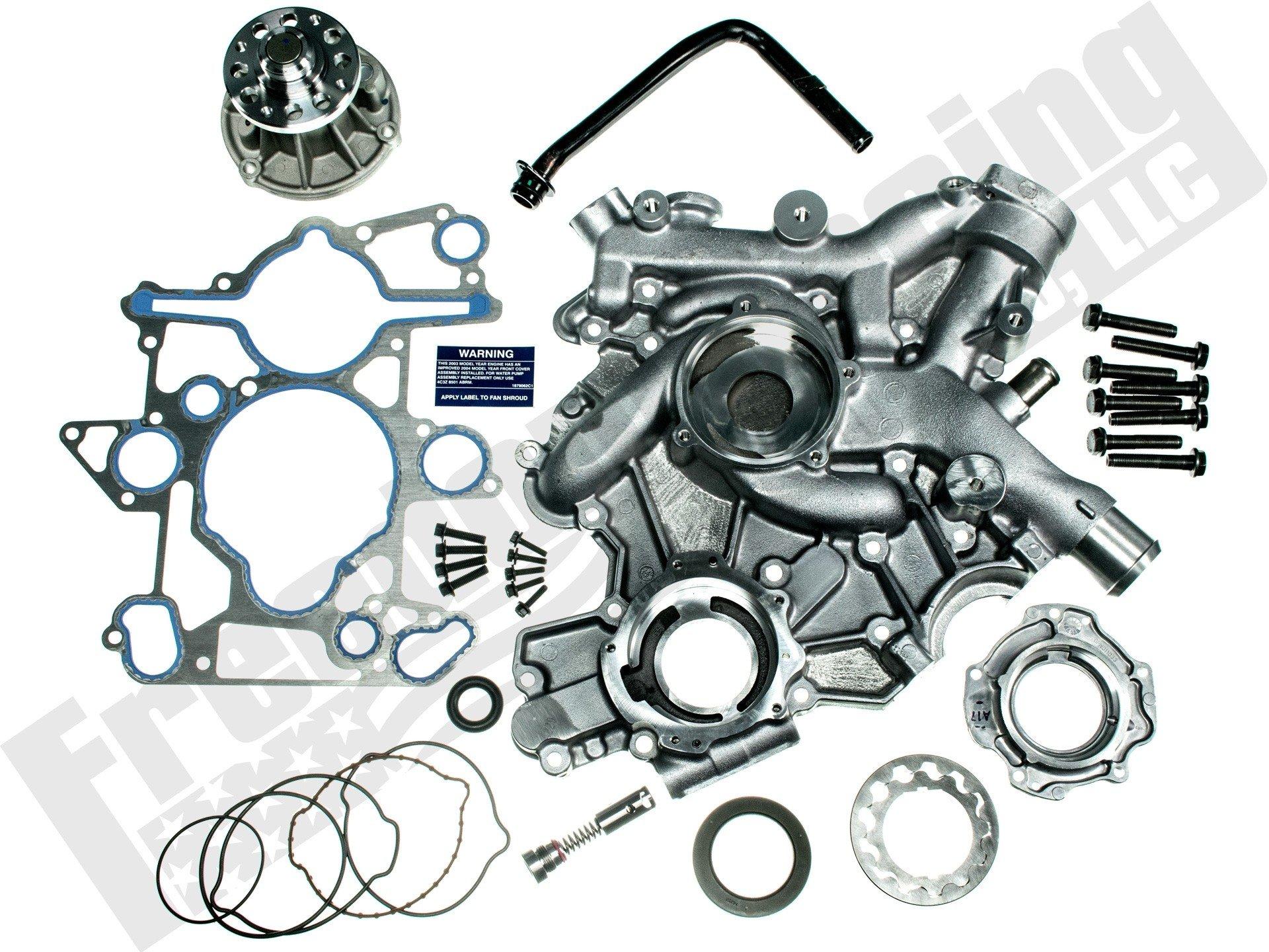 60l Front Cover And Low Pressure Oil Pump Kit 3c3z 6608 B 1998 Jaguar Engine Diagram