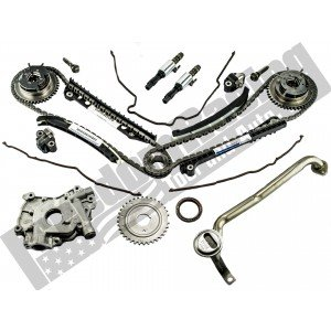 5.4L 3V 2004-2010 Ford OEM Cam Phaser, Timing Chain, Ford Performance Oil Pump, and VCT Solenoid Replacement Kit
