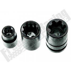 3PC 10 & 7 Point Brake Caliper Pad Screw Socket Set
